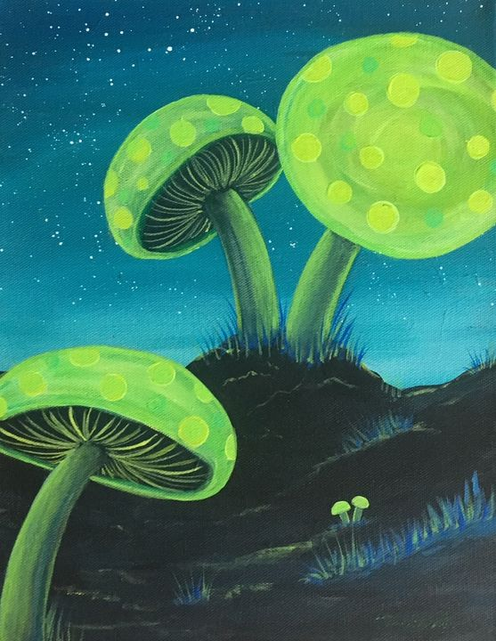 Glowshrooms - Tina Escobar - Artist at Heart