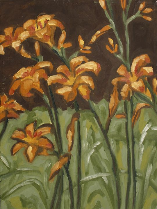 Day Lilies - Down with Dogs Art