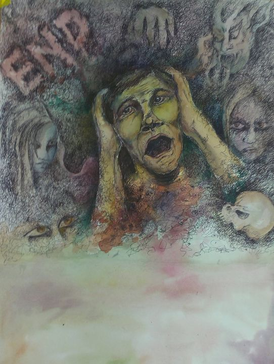 female feticide Series 1 - Kirti Art gallery