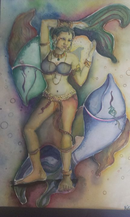 Abstracted Woman - Kirti Art gallery