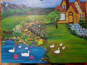 Duck pond garden home