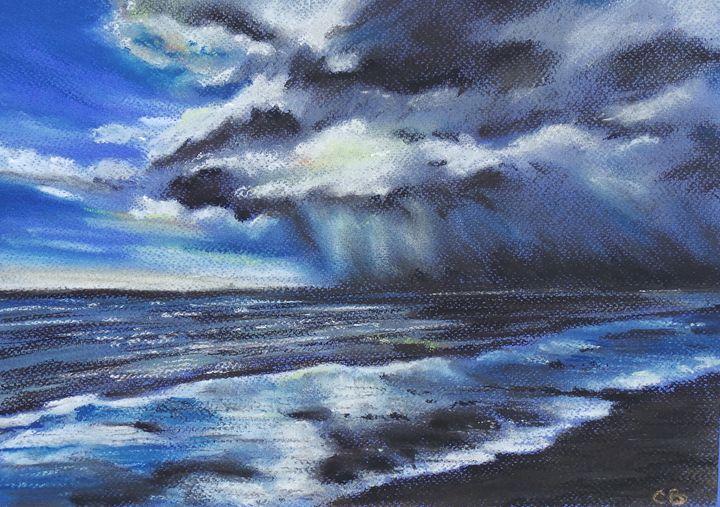 Storm Clouds over Tyrella, Co Down - Cheryl Ball Art