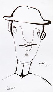 A man with a hat.