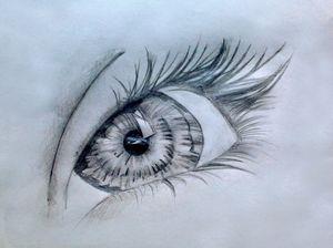 pencil sketch of an eye