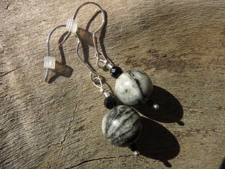 Jasper and Sterling Silver Earrings - Craftwerks by Jules