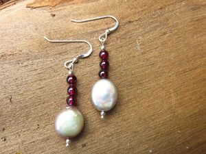 Silver Plated Beaded Dangle Earrings