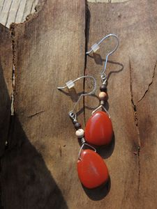 Jasper and Sterling Earrings