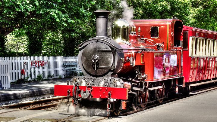 Steam Train - Manx Haven