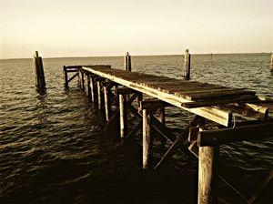 wrecked pier