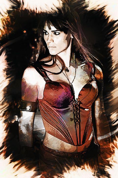 Jennifer Garner as Elektra fan art - Naumovski