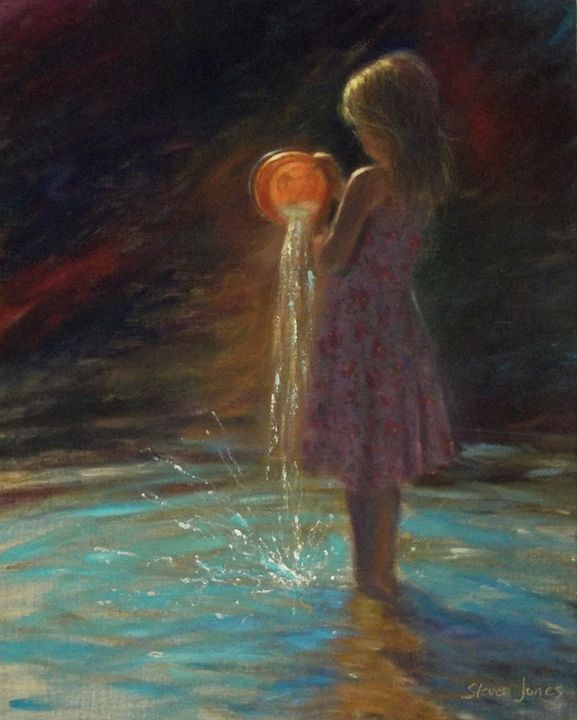 emptying orange bucket - STEVEN JONES GALLERY