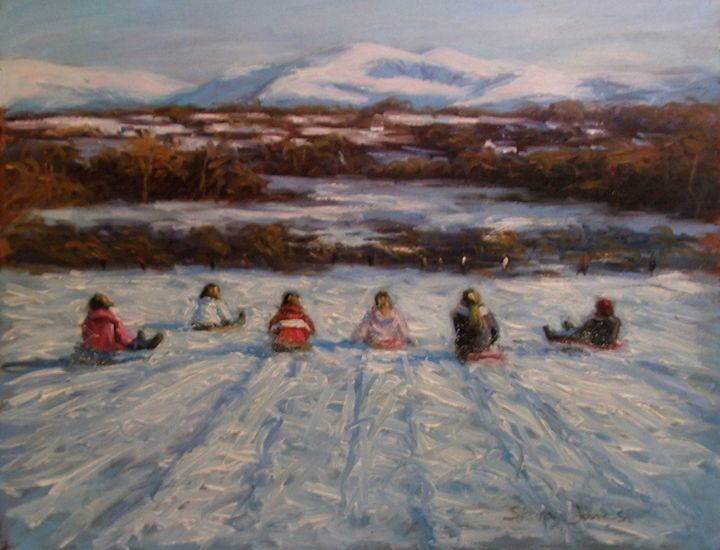 Sledging in Snowdonia - STEVEN JONES GALLERY