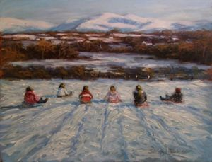 Sledging in Snowdonia