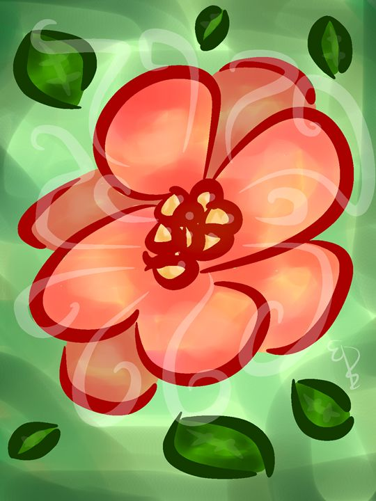 Beautiful Cartoon Flower - EllerzArt
