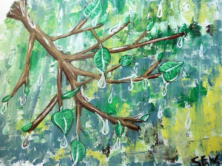 Spring Rain - Inspired Art and Crafts