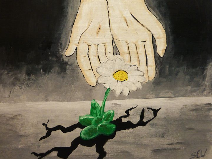 A flower that blooms in adversity - Inspired Art and Crafts