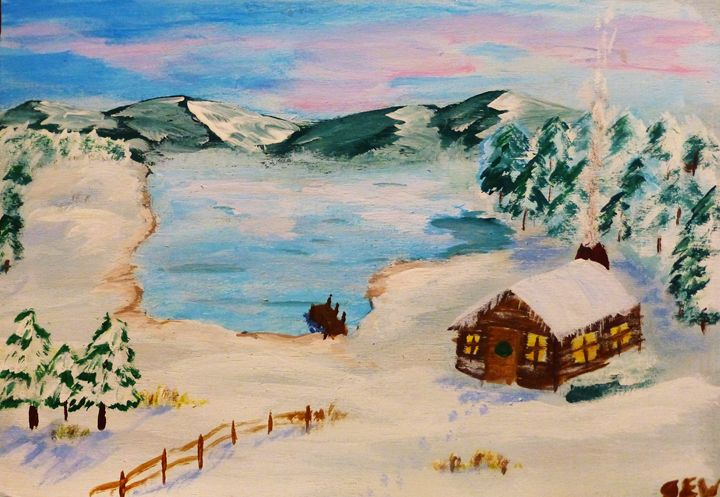 Snow Scene - Inspired Art and Crafts