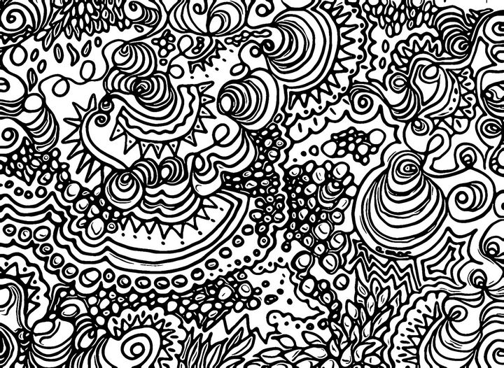 ORGANIC FREESTYLE - aMAC Pen and Ink