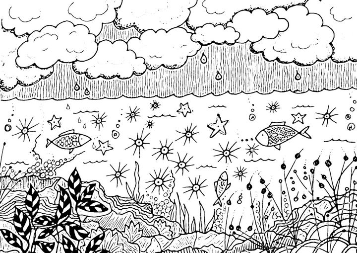 Inky Sea Life - aMAC Pen and Ink