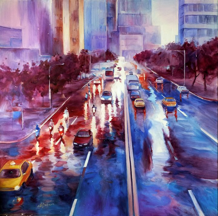 Evening traffic - Alexandra Yaremenko (Skreka)