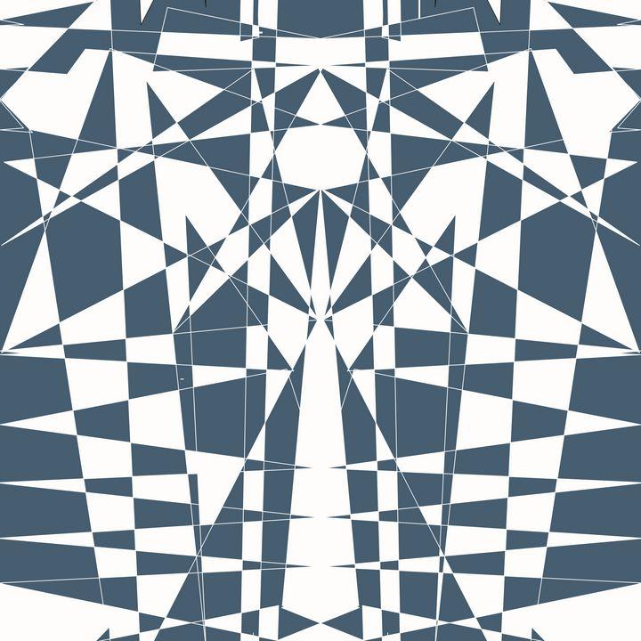 White on Blue Pattern - Steve Martin Art