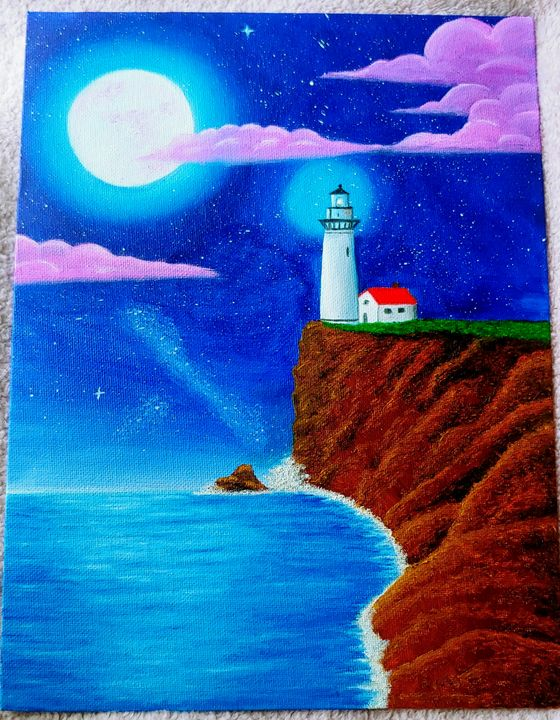 Lighthouse at Midnight - Krafty Kelly
