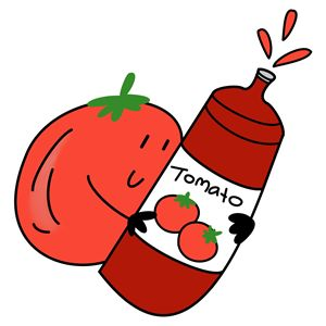 Tomato and ketchup - CuteTwo