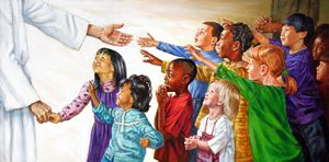 Children Coming to Christ - Paintings by John Lautermilch