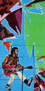 Chuck Berry - Paintings by John Lautermilch