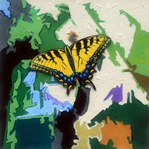 Butterfly #3 - Paintings by John Lautermilch