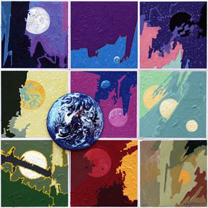 Good Bye Little Blue Planet - Paintings by John Lautermilch