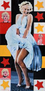 Marilyn Monroe The Star - Paintings by John Lautermilch