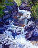 Rushing Waters #5 - Paintings by John Lautermilch