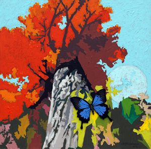 Last Butterfly Before Winter - Paintings by John Lautermilch