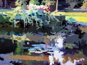 Abstract Patterns on the Lily Pond - Paintings by John Lautermilch