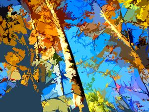 Tree Abstraction #10 - Paintings by John Lautermilch