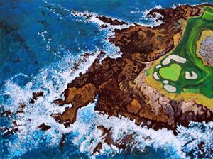 Pebble Beach Golf Course - Paintings by John Lautermilch