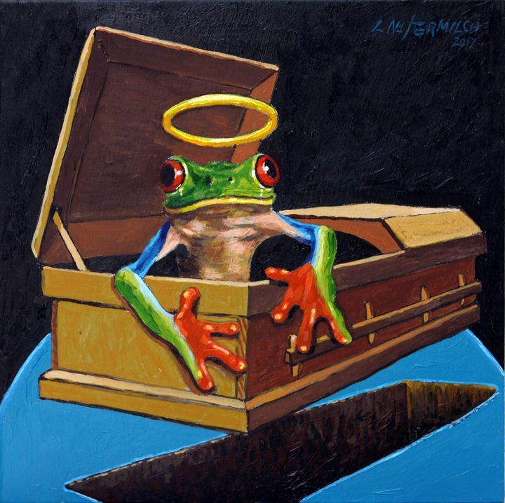 He Was A Very Good Frog - Paintings by John Lautermilch