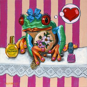 Miss Froggy Is In Love - Paintings by John Lautermilch