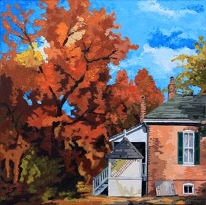 Payne Gentry Home - Paintings by John Lautermilch
