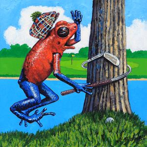 Froggy Needs Anger Management - Paintings by John Lautermilch