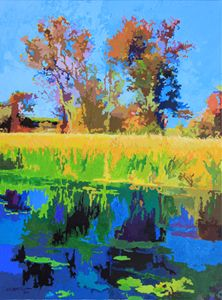 Fall At DePaul - Paintings by John Lautermilch