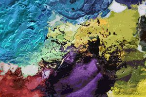 Abstract Palette 5 - Paintings by John Lautermilch
