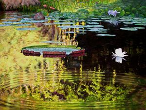 Ripples on Quiet Pond - Paintings by John Lautermilch