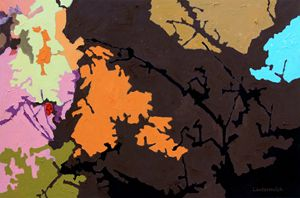 Autumn Trees #7 - Paintings by John Lautermilch