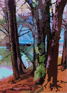Trees Along the Wayside - Paintings by John Lautermilch