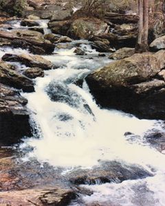 Mountain Stream - Paintings by John Lautermilch
