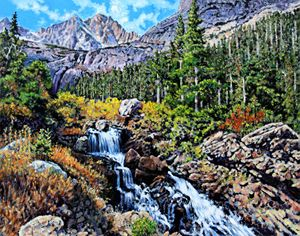 Returning To Colorado Rockies - Paintings by John Lautermilch