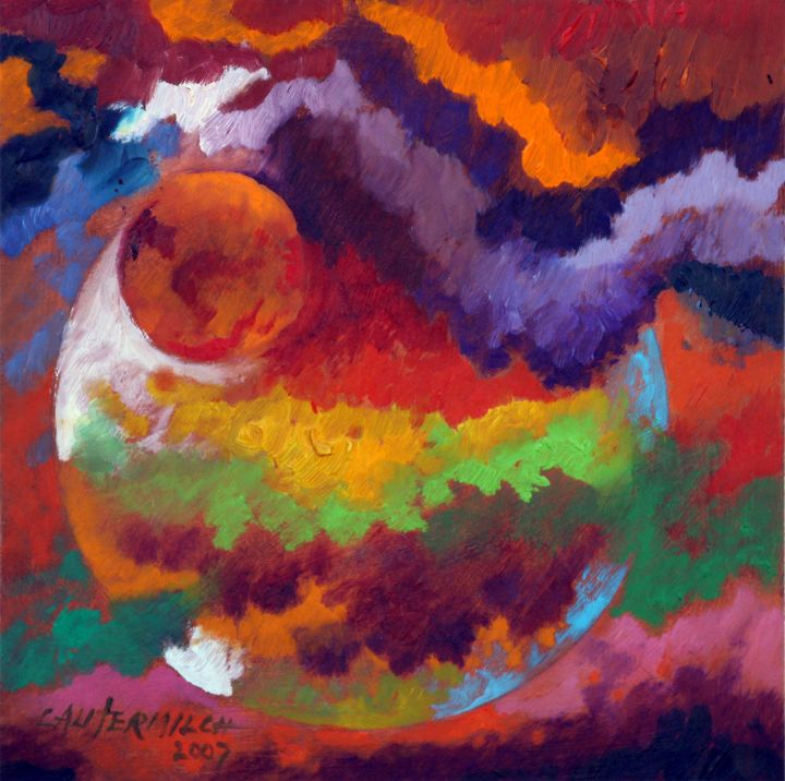 Evolution of a New Planet - Paintings by John Lautermilch