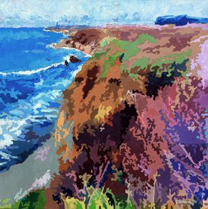 California Coast Line - Paintings by John Lautermilch